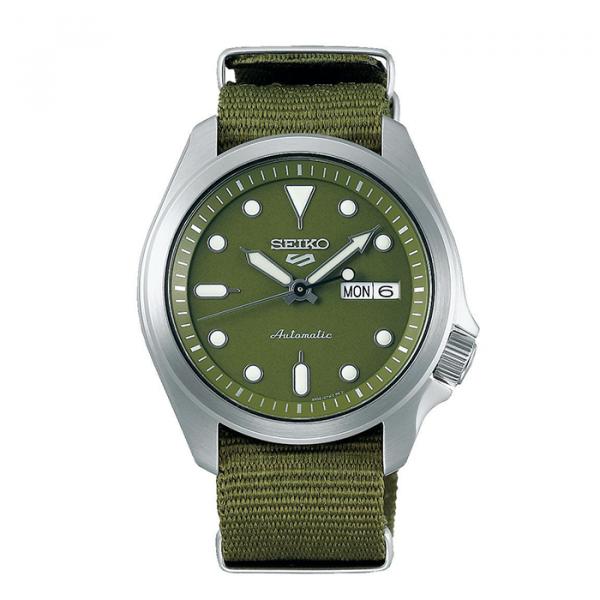 seiko SRPE65K1 csbedford 5 Sports Automatic Khaki Green Day Date Watch