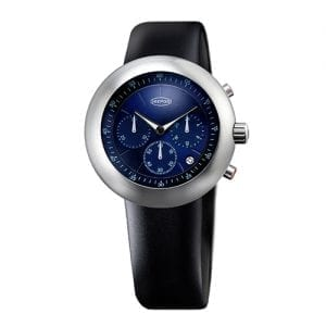 Ikepods Chronopod Blue Suede available at CS Bedford Jewelers